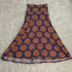 LLR LuLaRoe Maxi Mandala Sunburst Print Long Skirt